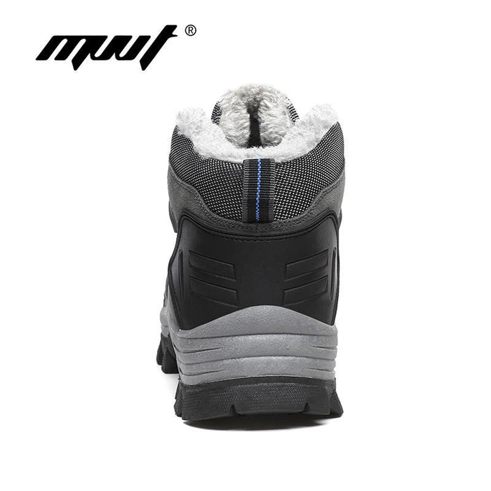 Supper Warm Fur Men Hiking Boots Waterproof Winter Outdoor Men Sneakers-COCO's fashion store-Gray-5.5-Bargain Bait Box