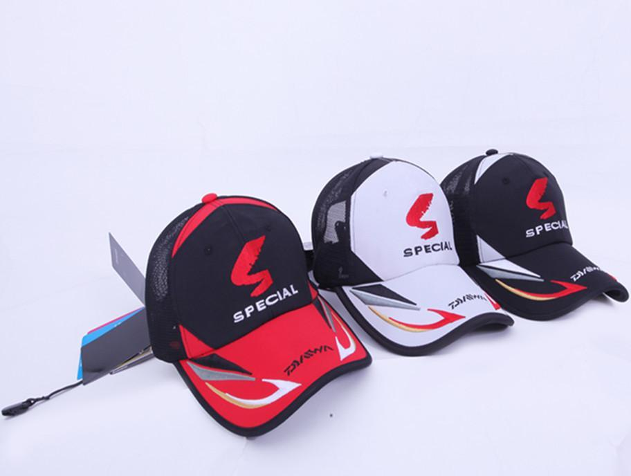 T Men Adjustable Fishing Sunshade Sport Baseball Fishermen Hat Cap Black Special-Hats-Bargain Bait Box-Red-L-Bargain Bait Box