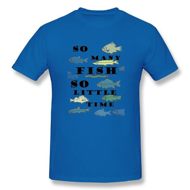 T Shirt Custom Design So Many Fish Fishinger Men Crewneck Short Sleeve-Shirts-Bargain Bait Box-Blue-XL-Bargain Bait Box