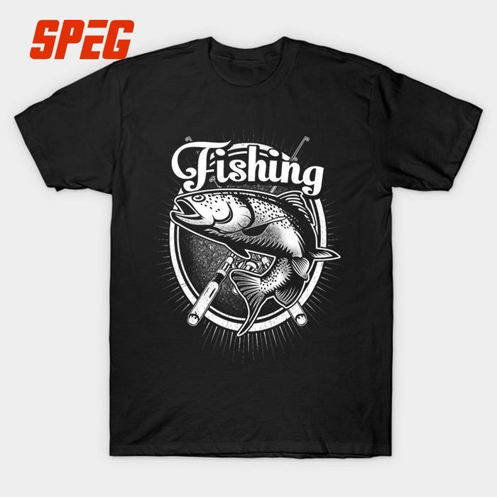 T Shirts Fishinger Just One More Cast I Promise Youth O Neck Custom Printed-Shirts-Bargain Bait Box-Black-S-Bargain Bait Box