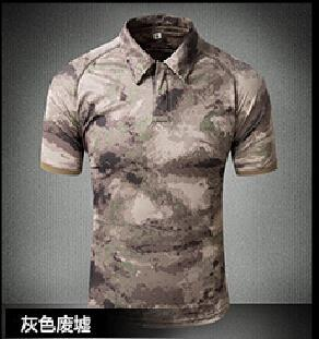 Tactical Military Breathable Shirt Short Sleeve Quick Dry Men Camo Camping-Shirts-Bargain Bait Box-02-S-Bargain Bait Box