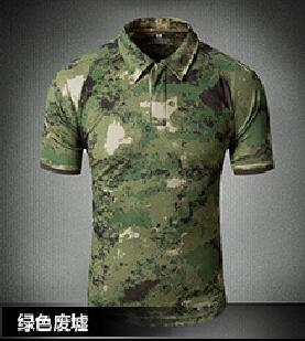 Tactical Military Breathable Shirt Short Sleeve Quick Dry Men Camo Camping-Shirts-Bargain Bait Box-03-S-Bargain Bait Box