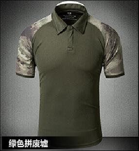 Tactical Military Breathable Shirt Short Sleeve Quick Dry Men Camo Camping-Shirts-Bargain Bait Box-05-S-Bargain Bait Box