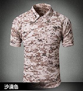 Tactical Military Breathable Shirt Short Sleeve Quick Dry Men Camo Camping-Shirts-Bargain Bait Box-06-S-Bargain Bait Box