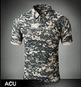 Tactical Military Breathable Shirt Short Sleeve Quick Dry Men Camo Camping-Shirts-Bargain Bait Box-10-S-Bargain Bait Box