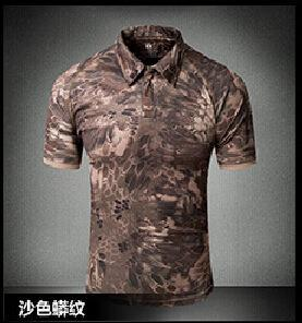 Tactical Military Breathable Shirt Short Sleeve Quick Dry Men Camo Camping-Shirts-Bargain Bait Box-13-S-Bargain Bait Box