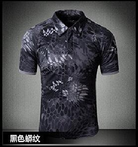 Tactical Military Breathable Shirt Short Sleeve Quick Dry Men Camo Camping-Shirts-Bargain Bait Box-14-S-Bargain Bait Box