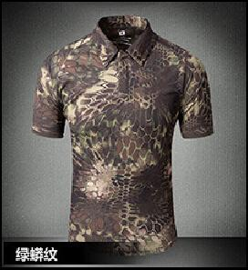 Tactical Military Breathable Shirt Short Sleeve Quick Dry Men Camo Camping-Shirts-Bargain Bait Box-15-S-Bargain Bait Box