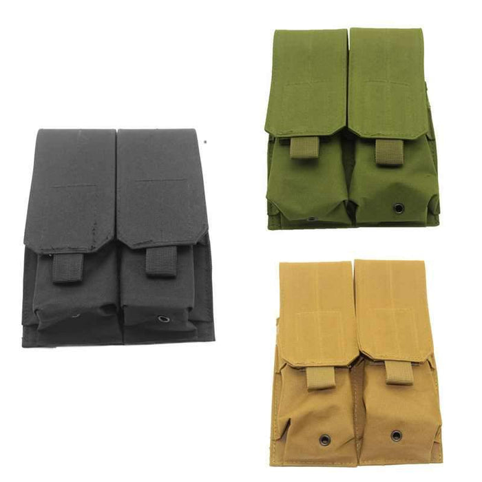 Tactical Molle Clip Double Mag Magazine Pouch Bag Pistol Magazine Pouch-Bags-Bargain Bait Box-Black-Bargain Bait Box