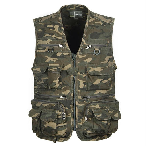 Tactical Vest L-4Xl Men Fishing Vest Sleeveless Fishing Jacket Multi-Pockets-Fishing Vests-Bargain Bait Box-Military-XL-Bargain Bait Box