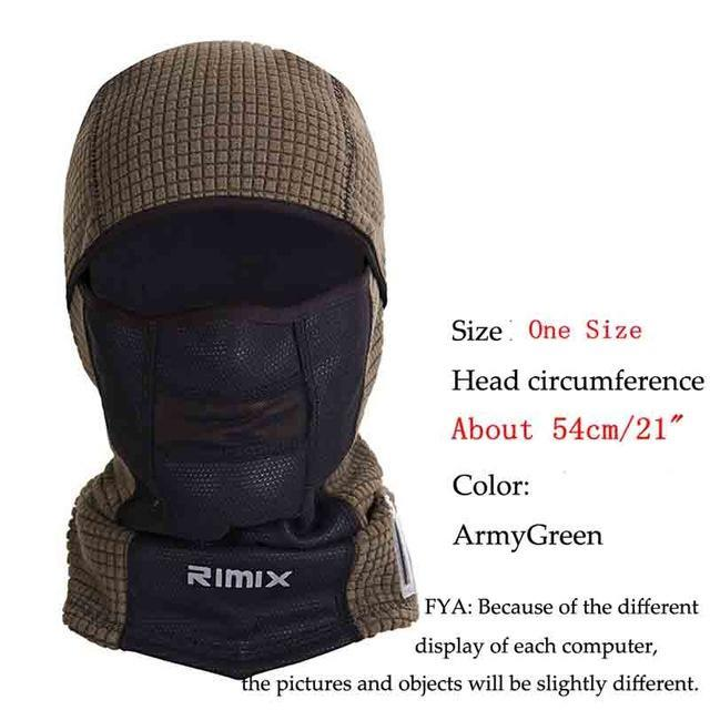 Temperature Display Windproof Warm Thermal Fleece Mask Hat Ski Breathable-Masks-Bargain Bait Box-ArmyGreen-One Size Fit Most-Bargain Bait Box
