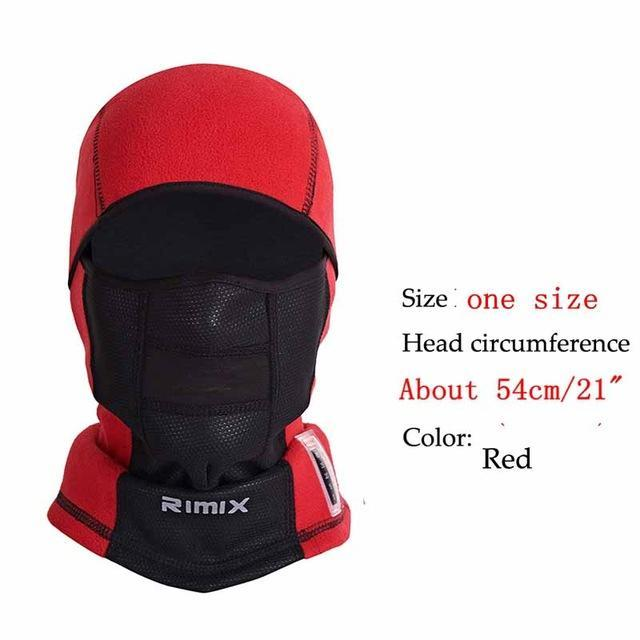 Temperature Display Windproof Warm Thermal Fleece Mask Hat Ski Breathable-Masks-Bargain Bait Box-Red-One Size Fit Most-Bargain Bait Box