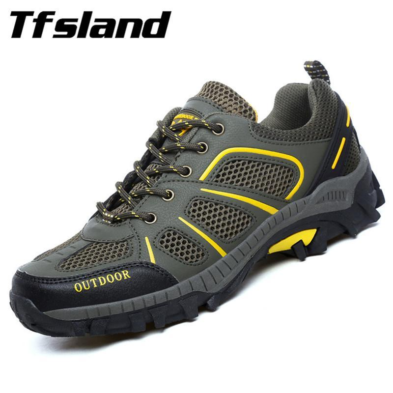 Tfsland Mesh Breathable Womens Men Shoes Lightweight Male Walking Trekking Shoes-Shoes-Bargain Bait Box-women light green-9.5-Bargain Bait Box