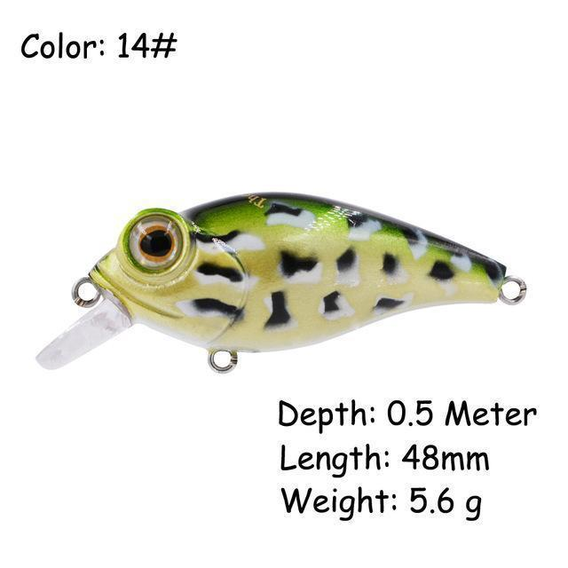 The Time Brand Fishing Lure Ltw45 Small Crankbait Lures With 48Mm/5.6G-The Time Outdoor Franchise Store-Color 14-Bargain Bait Box