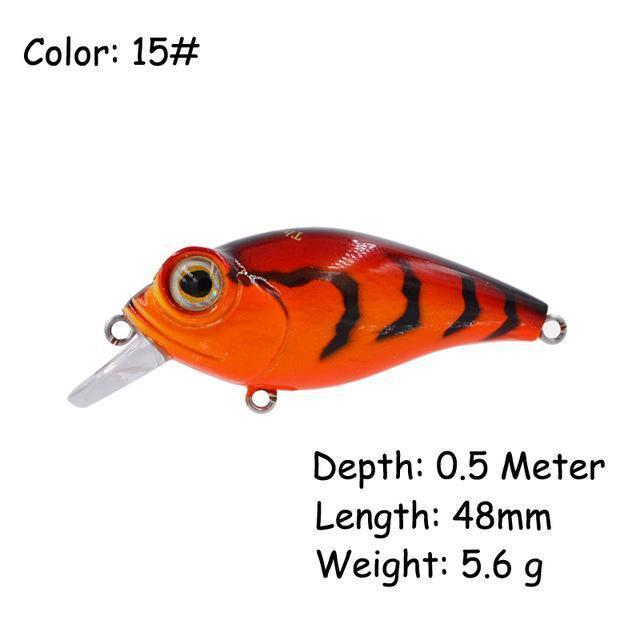The Time Brand Fishing Lure Ltw45 Small Crankbait Lures With 48Mm/5.6G-The Time Outdoor Franchise Store-Color 15-Bargain Bait Box
