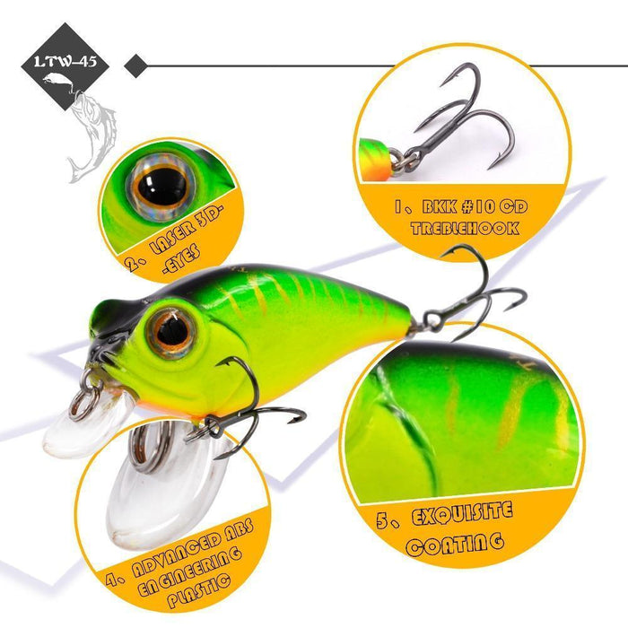 The Time Brand Fishing Lure Ltw45 Small Crankbait Lures With 48Mm/5.6G-The Time Outdoor Franchise Store-Color 2-Bargain Bait Box