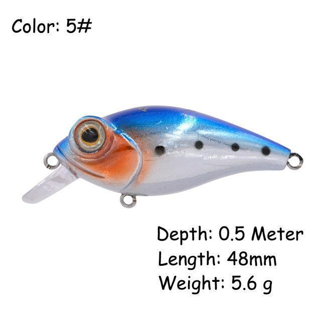 The Time Brand Fishing Lure Ltw45 Small Crankbait Lures With 48Mm/5.6G-The Time Outdoor Franchise Store-Color 5-Bargain Bait Box