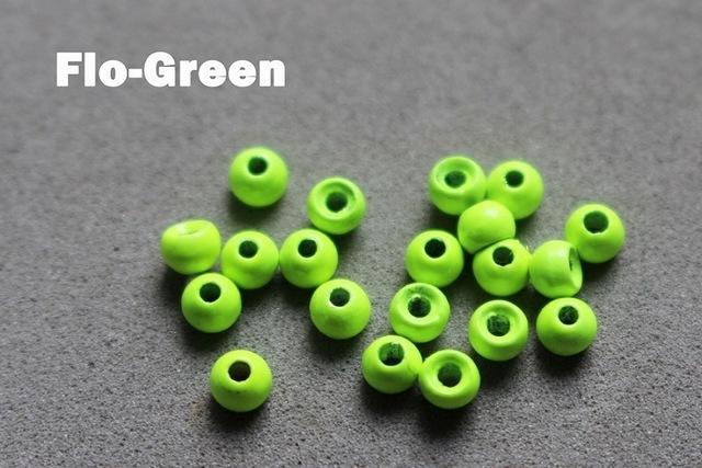 Tigofly 30 Pcs 3.45 Mm 6 Colors Tungsten Beads Fly Tying Beads Materials Fly-Fly Tying Materials-Bargain Bait Box-Flo Green-Bargain Bait Box