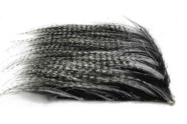 Tigofly 5 Pcs 8*8Cm Furabou Craft Fur 5 Barred Colors Fiber Streamer Tail Wing-TIGOFLY Fishing Factory Store-Black-Bargain Bait Box