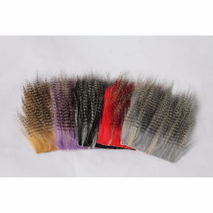 Tigofly 5 Pcs 8*8Cm Furabou Craft Fur 5 Barred Colors Fiber Streamer Tail Wing-TIGOFLY Fishing Factory Store-Ginger-Bargain Bait Box