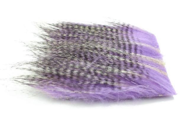 Tigofly 5 Pcs 8*8Cm Furabou Craft Fur 5 Barred Colors Fiber Streamer Tail Wing-TIGOFLY Fishing Factory Store-Purple-Bargain Bait Box