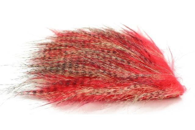 Tigofly 5 Pcs 8*8Cm Furabou Craft Fur 5 Barred Colors Fiber Streamer Tail Wing-TIGOFLY Fishing Factory Store-Red-Bargain Bait Box
