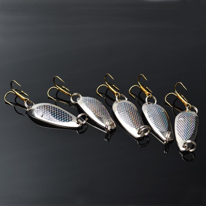 Toma 10Pcs/Lot Brand Fishing Bait Spoon Lure Silver 40Mm 5.2G Fishing Metal-ToMa Official Store-Bargain Bait Box
