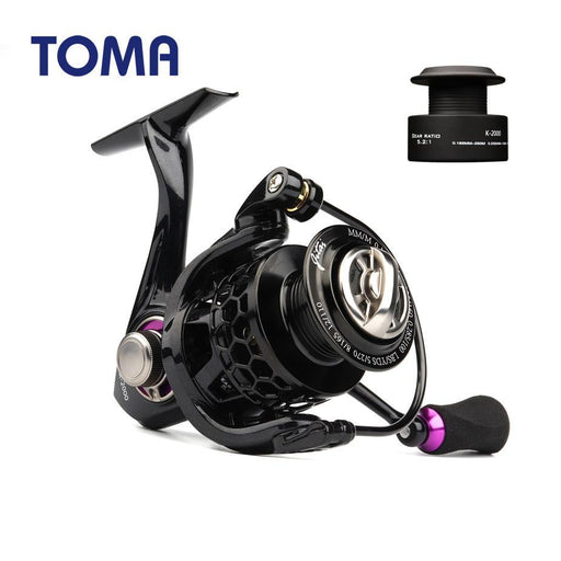 Toma 2019 Fishing Reel Carp Spinning Ultralight 10+1Bb 1000 4000 Series-Fishing Reels-ToMa Factory Store-Gold color-11-1000 Series-Bargain Bait Box