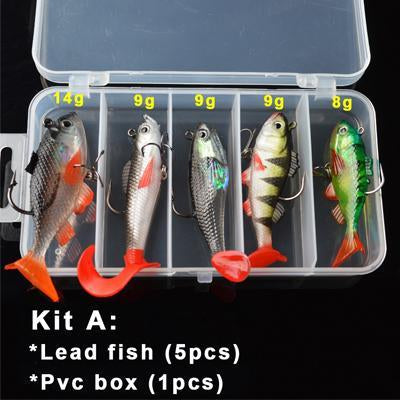 Toma Soft Kit Set 18G 14G 13G 9G 8G S Bait Silicone Fishing Sea Bass Fishing-Soft Bait Kits-Bargain Bait Box-Kit A-Bargain Bait Box