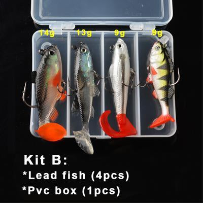 Toma Soft Kit Set 18G 14G 13G 9G 8G S Bait Silicone Fishing Sea Bass Fishing-Soft Bait Kits-Bargain Bait Box-Kit B-Bargain Bait Box