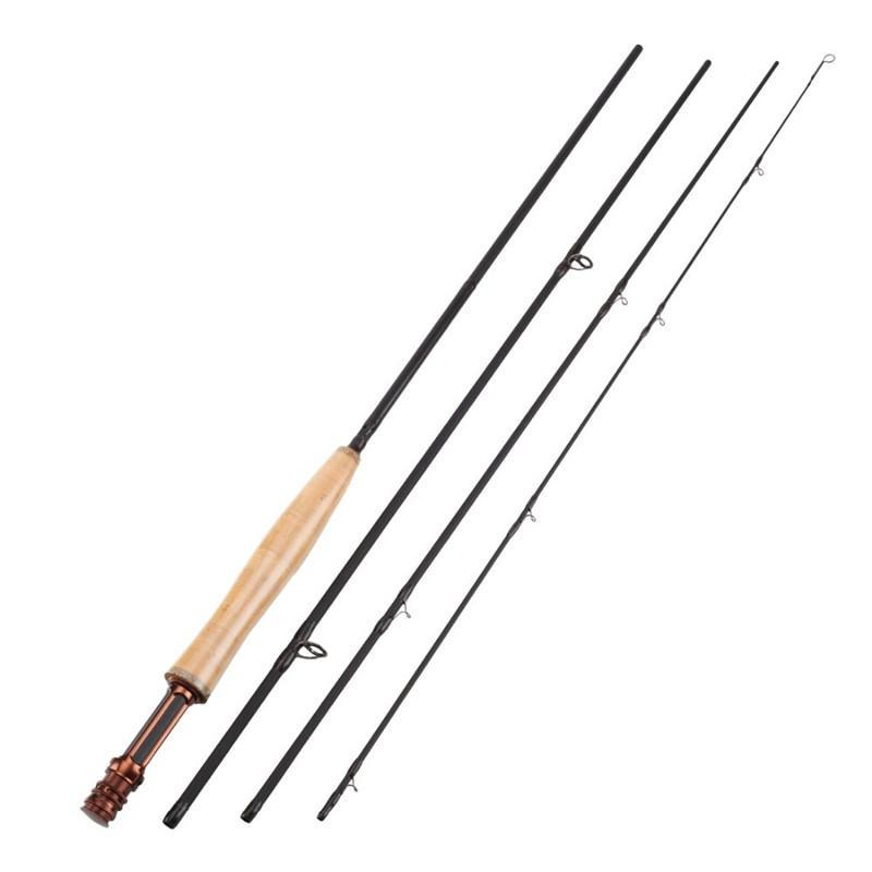 Top Grade 3/4# Carbon 4 Sections 2.4M Fly Fishing Rod High Carbon Fiber-Fly Fishing Rods-Bargain Bait Box-Bargain Bait Box