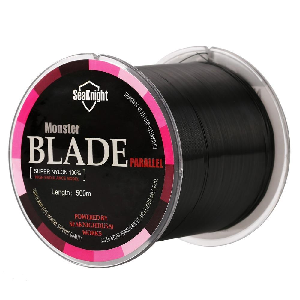Top Quality Blade Band Nylon Transparent Fishing Line Fishing Tackle 500M Ice-NUNATAK Fishing Store-White-0.4-Bargain Bait Box