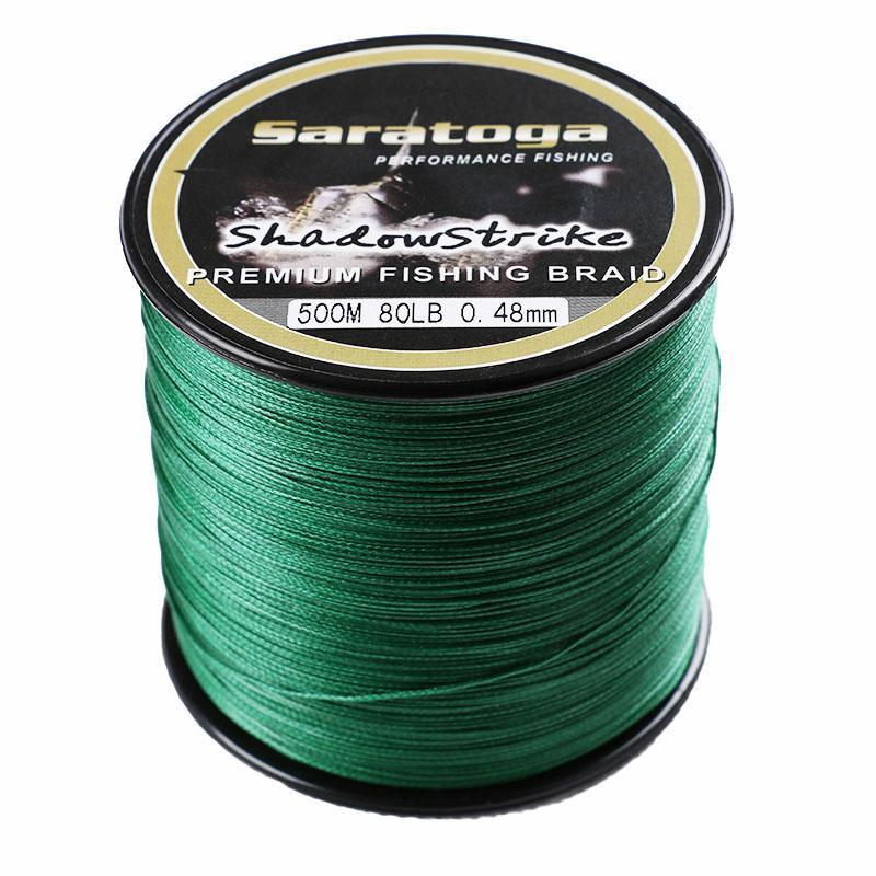 Top Quality Saratoga 8 Strands Braided Fishing Line Multifiament Fishing Wire-AGEPOCH Fishing Tackle Co., Ltd.-White-0.6-Bargain Bait Box