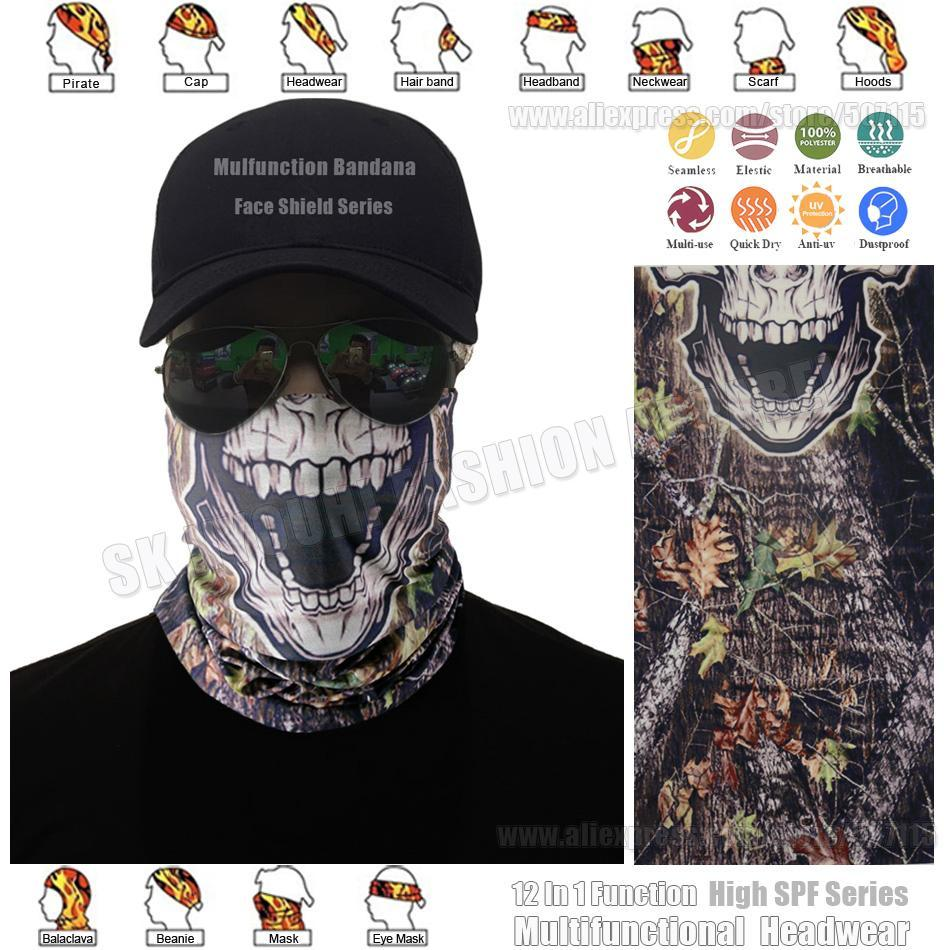 Top Underwood Camo Skull Riding Face Shield Mask Bicycle Headwear Digital-Face Shields-Bargain Bait Box-Bargain Bait Box