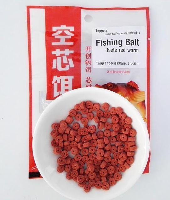 Toppory 1Bag 30G Carp Fishing Bait Crucian Bait Red Worm Aroma Taste Inserted-Toppory Store-Red worm-Bargain Bait Box