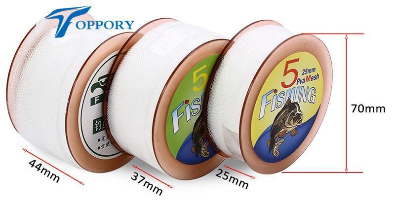 Topproy 5M Pva Mesh 25 Mm/37 Mm/44 Mm Width Pva Bag For Carp Fishing Bait Bolies-Toppory Store-25mm-Bargain Bait Box