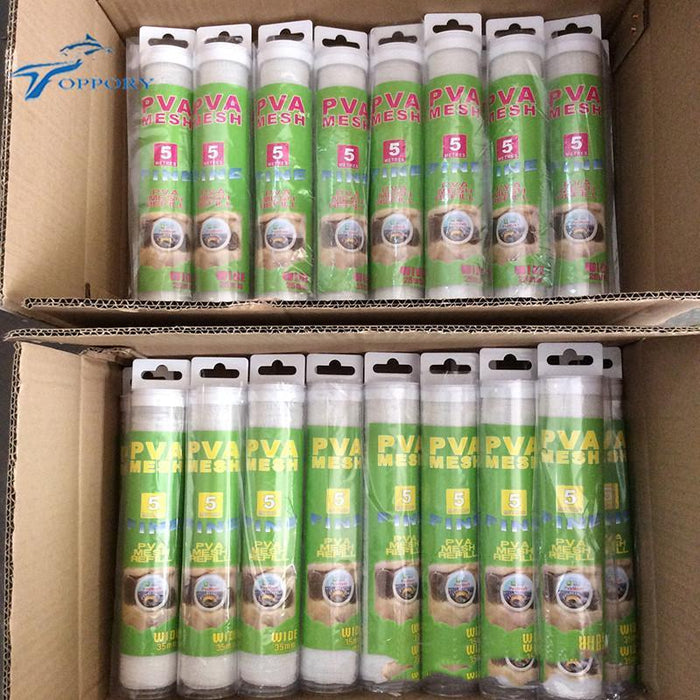 Topproy 5M Pva Mesh Tube Kits 25Mm 35 Mm Water Solvable Dissovling Pva For-Toppory Store-25MM X 5M-Bargain Bait Box
