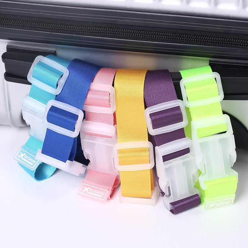 Transer Luggage Straps Hook Suitcase Clip Protect Belt Easy Adjustable Buckle-Poerf Store-Pink-Bargain Bait Box