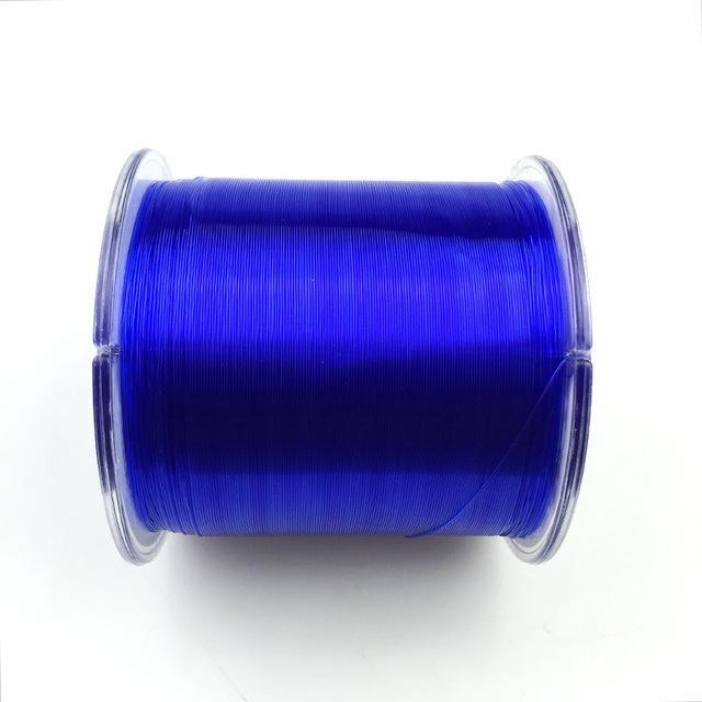Transparent/ Yellow/ Red/ Blue 500M Monofilament Fishing Line 100% Nylon Fishing-Dreamer Zhou'store-color D-0.6-Bargain Bait Box