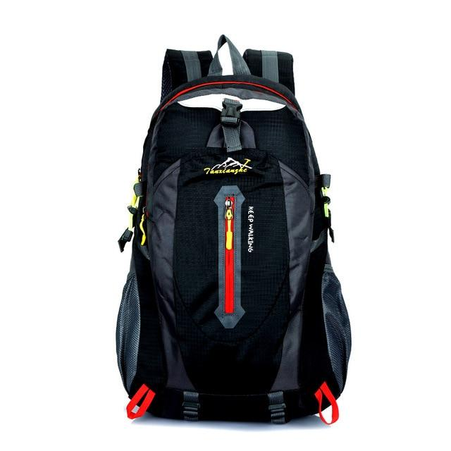 Travel Climbing Backpacks Men Travel Bags Waterproof 40L Hiking Backpacks-Climbing Bags-HU WAI JIAN FENG SportBags Store-black-30 - 40L-Bargain Bait Box