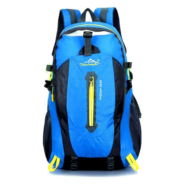Travel Climbing Backpacks Men Travel Bags Waterproof 40L Hiking Backpacks-Climbing Bags-HU WAI JIAN FENG SportBags Store-blue-30 - 40L-Bargain Bait Box