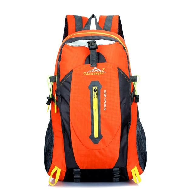 Travel Climbing Backpacks Men Travel Bags Waterproof 40L Hiking Backpacks-Climbing Bags-HU WAI JIAN FENG SportBags Store-orange-30 - 40L-Bargain Bait Box