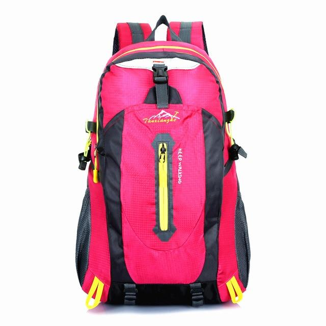 Travel Climbing Backpacks Men Travel Bags Waterproof 40L Hiking Backpacks-Climbing Bags-HU WAI JIAN FENG SportBags Store-pink-30 - 40L-Bargain Bait Box