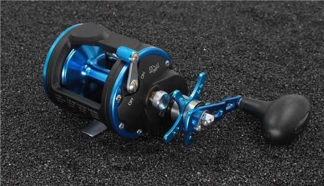 Trolling Reel Fishing Act20 - 40 Right Hand Casting Sea Fishing Reel Saltwater-Baitcasting Reels-Outdoor Sports & fishing gear-Black Blue-2000 Series-Bargain Bait Box