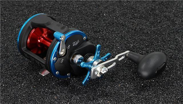 Trolling Reel Fishing Act20 - 40 Right Hand Casting Sea Fishing Reel Saltwater-Baitcasting Reels-Outdoor Sports & fishing gear-Blue Red-2000 Series-Bargain Bait Box