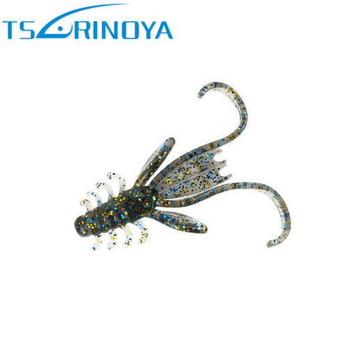 Trulinoya 4Cm1G/5Cm2.1G Soft Fishing Soft Baits Shrimp Long Tail Ria Para-Creatures-Bargain Bait Box-50mm 21g-Bargain Bait Box