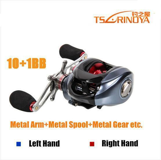 Trulinoya Baitcasting Reel 10+1 Ball Bearings Fishing Reel Fishing Casting-Baitcasting Reels-Extragreen Fishing-Left Handle-Bargain Bait Box