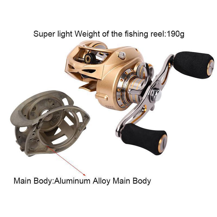 Trulinoya Double Brake Baitcasting Reel 7.0:1 9Bb+1Rb Bait Casting Reel Max Drag-Baitcasting Reels-Goture Fishing Tackle Store-Left Hand-Bargain Bait Box