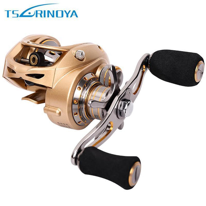 Trulinoya Full Metel Body And Carbon Fiber Side Cap Double Brake Baitcasting-Baitcasting Reels-Goture Fishing Store-Left Hand-Bargain Bait Box
