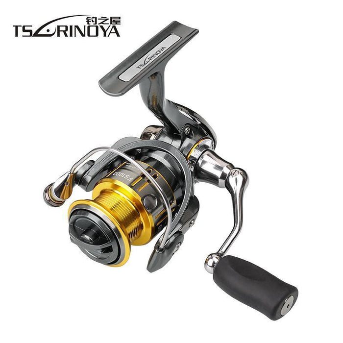 Tsurinoya 10Bb 5.2:1 Spinning Fishing Reel Lure Reel Fs800 Fs1000 Fs2000-Spinning Reels-We Like Fishing Tackle Co.,Ltd-Gold-Bargain Bait Box